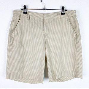 Calvin Klein Tan Vertical Stripe Shorts 8